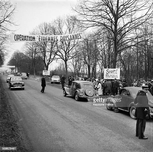 Circulation automobile difficile lors d'une manifestation paysanne