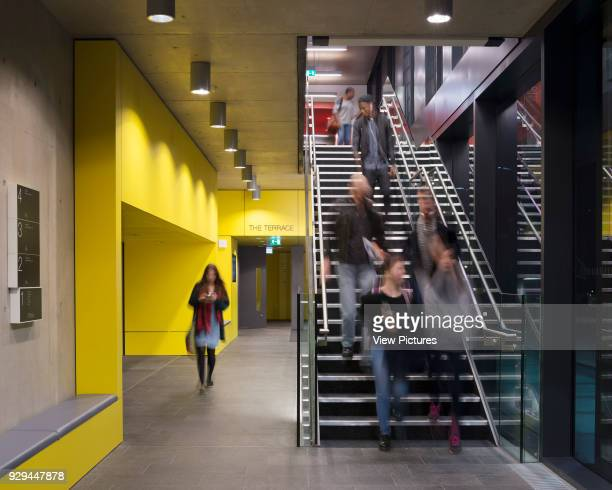 Circulation space and stairs John Henry Brookes Building Oxford Brookes University Oxford United Kingdom Architect Design Engine Architects Ltd with...