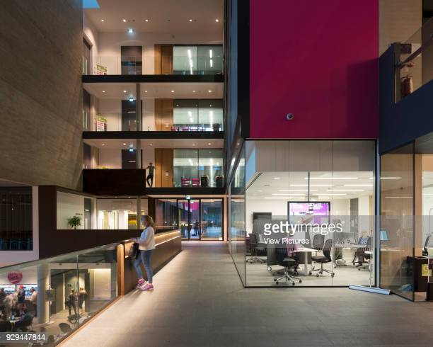 Circulation space outside Library entrance John Henry Brookes Building Oxford Brookes University Oxford United Kingdom Architect Design Engine...