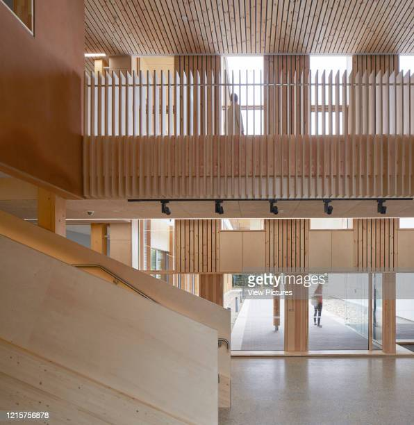 Circulation spaces on ground and first floor The Enterprise Centre UEA Norwich United Kingdom Architect Architype Limited 2015