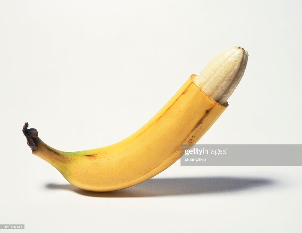Circumcised banana : Stock Photo