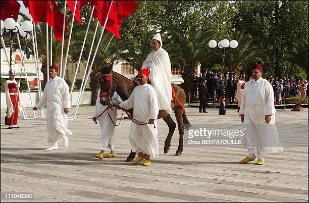 Circumcision ceremony inside the palace Guests were invited for lunch by the King in Fez Maroc on April 14th 2005