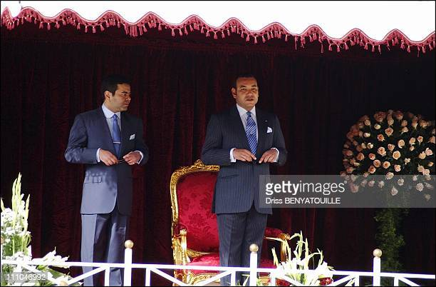 Circumcision ceremony inside the palace Guests were invited for lunch by the King Mohammed VI Moulay Rachid and King Mohammed VI in Fez Maroc on...