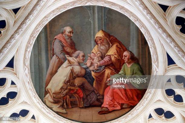 Circumcision of Abraham. Painting. Sallanches. France.