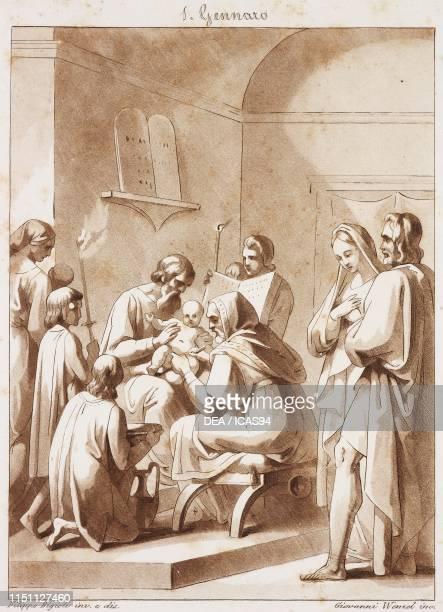 Circumcision of Jesus, Calendar of Saints, January 1, engraving from Composition artistiques inventees par le peintre Philippe Bigioli et reproduites...