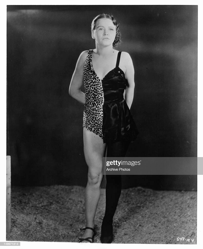Circus Act Woman Wearing Multiple Half Costume In Publicity Portrait
