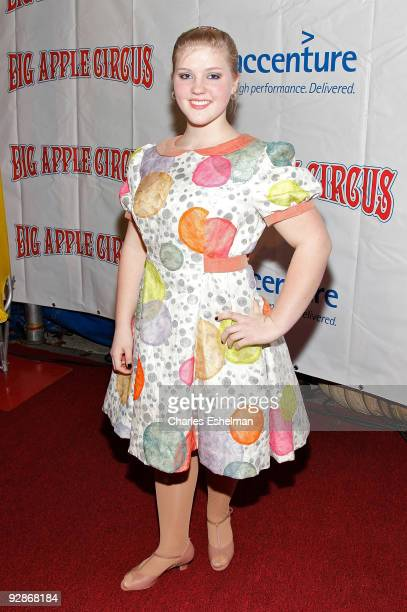 Circus airialist Annaliese Nock attends the 2009 Big Apple Circus opening night gala benefit at Damrosch Park in Lincoln Center on November 6 2009 in...