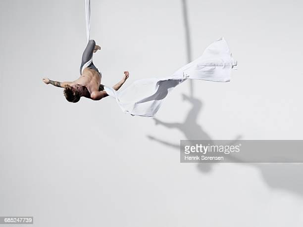 Circus artist in Silks