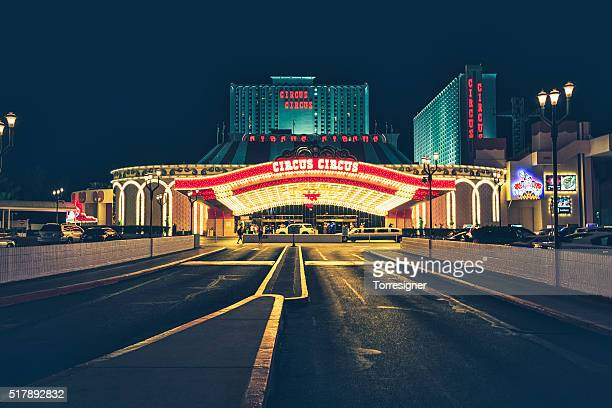 circus circus las vegas hotel and casino - entrance sign stock photos and pictures