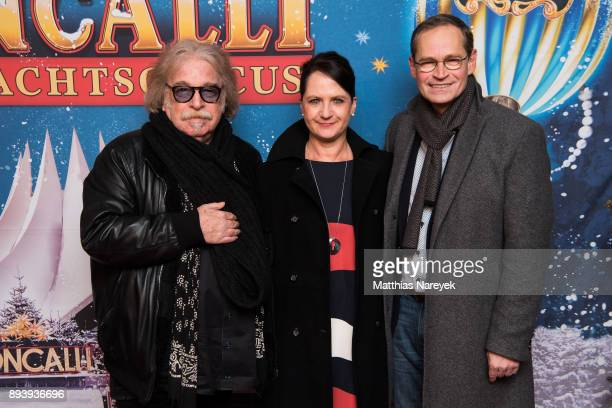 Circus director Bernhard Paul the Mayor of Berlin Michael Mueller and his wife Claudia attend the 14th Roncalli Christmas at Tempodrom on December 16...