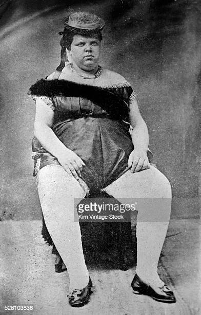 A circus fat woman poses for a portrait ca 1890