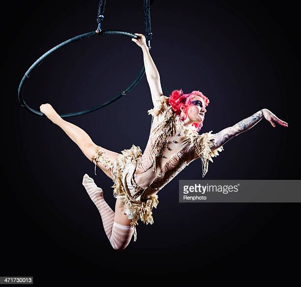 circus hoop performer - performer stock pictures, royalty-free photos & images