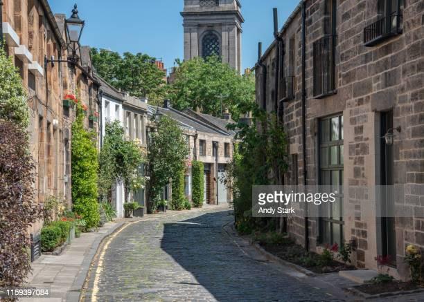 circus lane, edinburgh - edinburgh scotland stock pictures, royalty-free photos & images