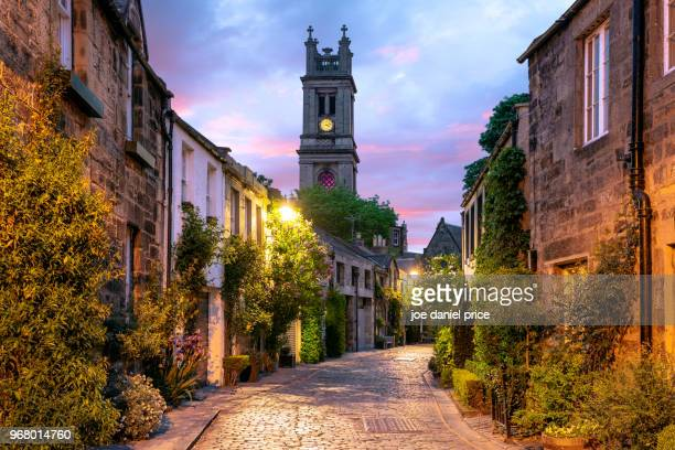 circus lane, edinburgh, scotland - schotland stockfoto's en -beelden