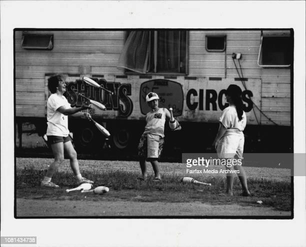 Circus Life Ashtons CircusPassing on the knowledge Lorraine Ashton juggles with circus children Mitchell Falagan and Tamara Rodrigues December 06 1989