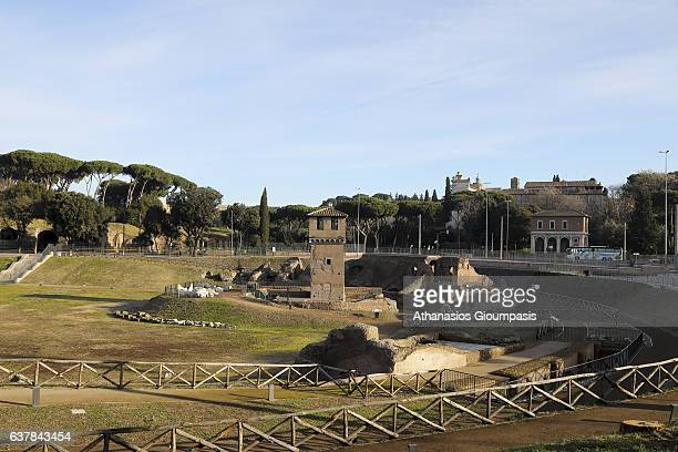 Circus Maxi on Decemper 31 2016 in RomeItaly Circus Maximus was once the largest race course for chariot races It was built in the valley between the...