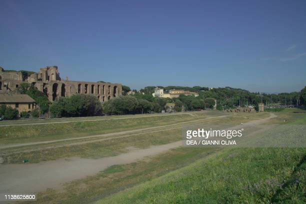 Circus Maximus, ancient stadium site for shows, athletic competitions and chariot races, Rome, Lazio, Italy.