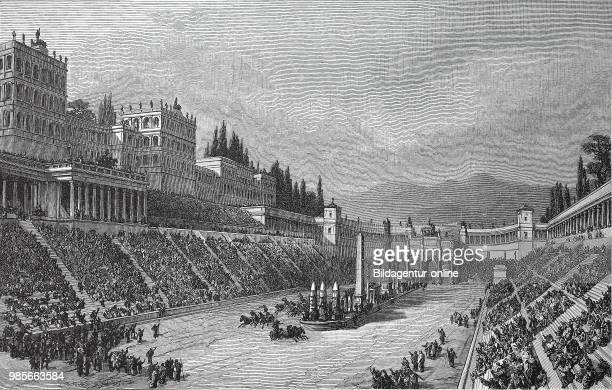 Circus Maximus Italian Circo Massimo was the largest circus in ancient Rome reconstruction by G Rehlender digital improved reproduction of an...