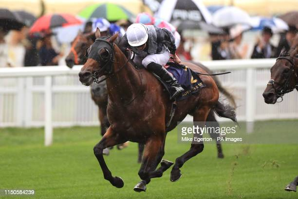 Circus Maximus ridden by jockey Ryan Moore on his way to winning St James's Palace Stakes during day one of Royal Ascot at Ascot Racecourse.
