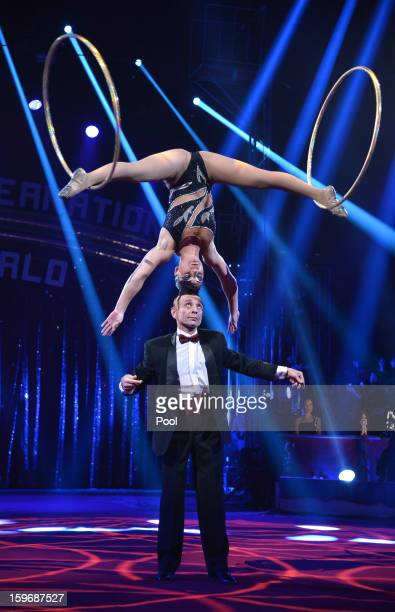Circus performers during the opening of the MonteCarlo 37th International Circus Festival on January 17 2013 in MonteCarlo Monaco