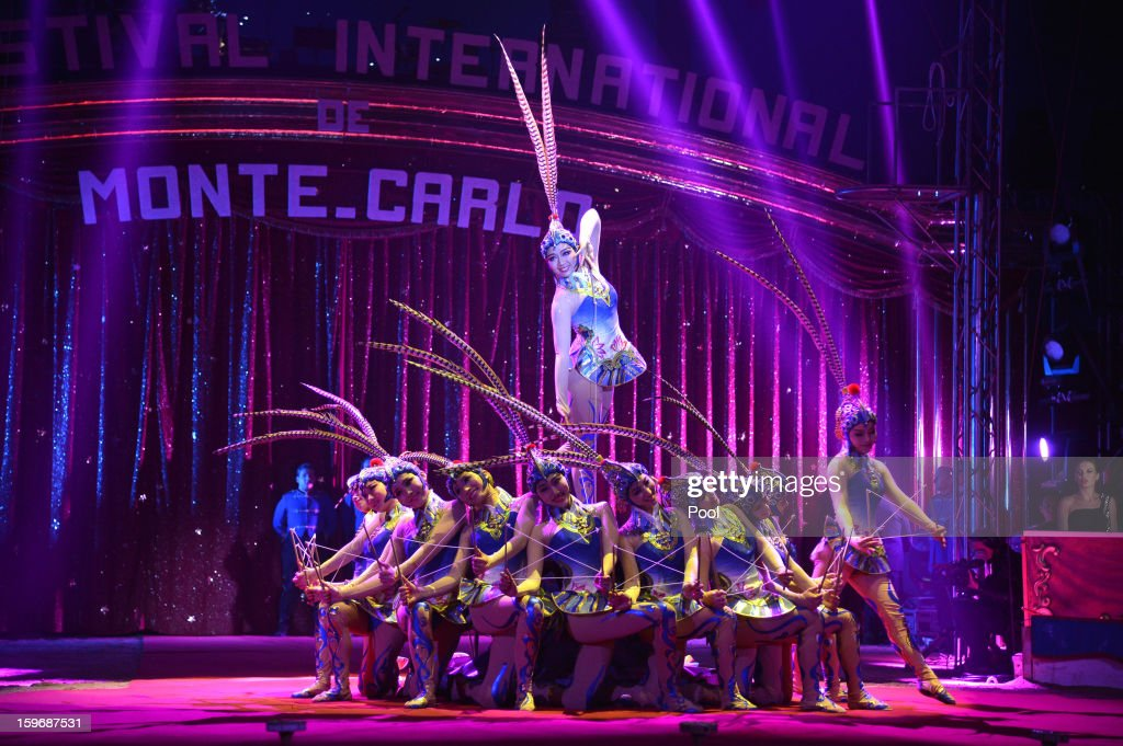 Circus performers during the opening of the Monte-Carlo 37th International Circus Festival on January 17, 2013 in Monte-Carlo, Monaco.