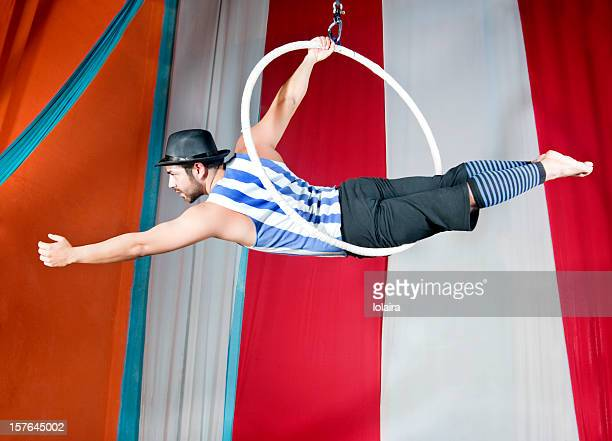 circus ring - trapeze artist stock photos and pictures