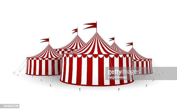 tende di circo - tendone di circo foto e immagini stock