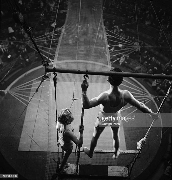 Circus trapeze artists France about 1935