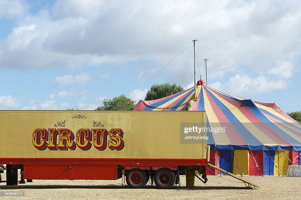 Circus truck and Big Top tent  Stock Photo & Circus Truck And Big Top Tent Stock Photo | Getty Images