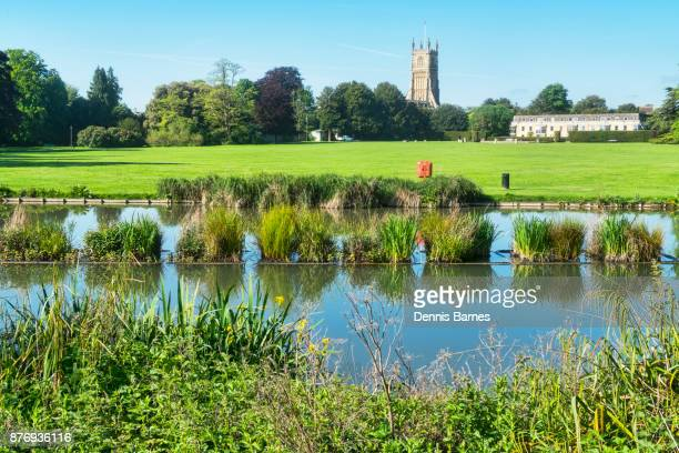 cirencester; abbey, grounds park, river chum, gloucestershire; uk; england - cirencester stock pictures, royalty-free photos & images