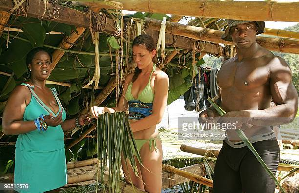 Cirie Fields Amanda Kimmel and James Clement of the Hero's tribe during the first episode of SURVIVOR HEROES VS VILLAINS when the 20th installment of...