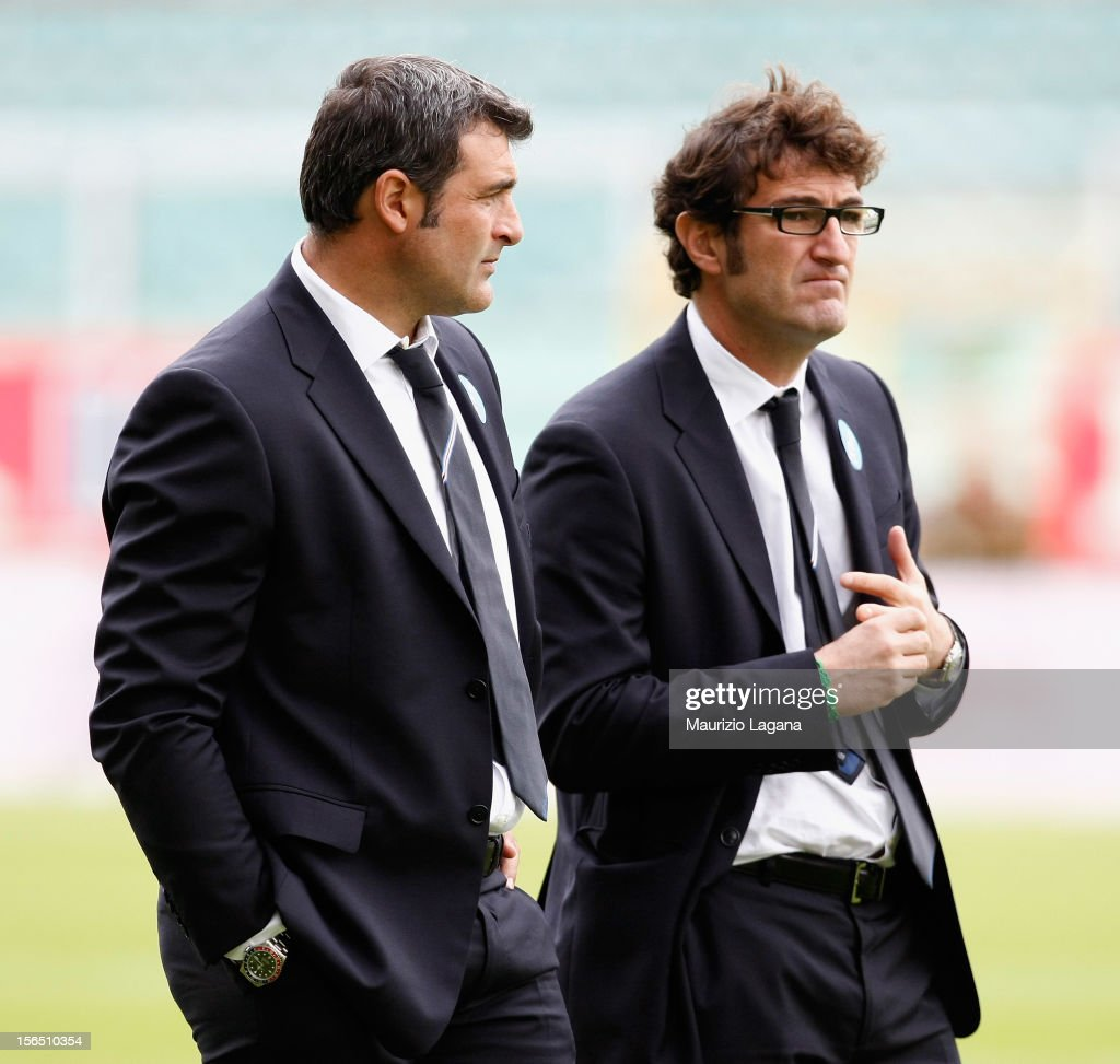Ciro Ferrara head coach of Sampdoria and Angelo Peruzzi second ...
