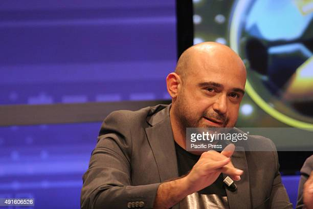 "Ciro Giustiniani during the ""Goal Show Football"" TV show launching which will be hosted by Ciccio Graziani."