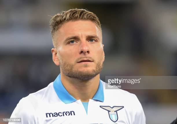 Ciro Immobile during the Italian Serie A football match between SS Lazio and Frosinone at the Olympic Stadium in Rome on september 02 2018