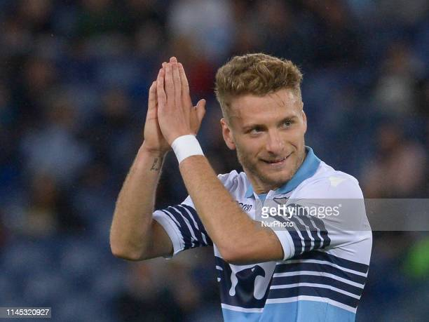 Ciro Immobile during the Italian Serie A football match between SS Lazio and Bologna at the Olympic Stadium in Rome on may 20 2019
