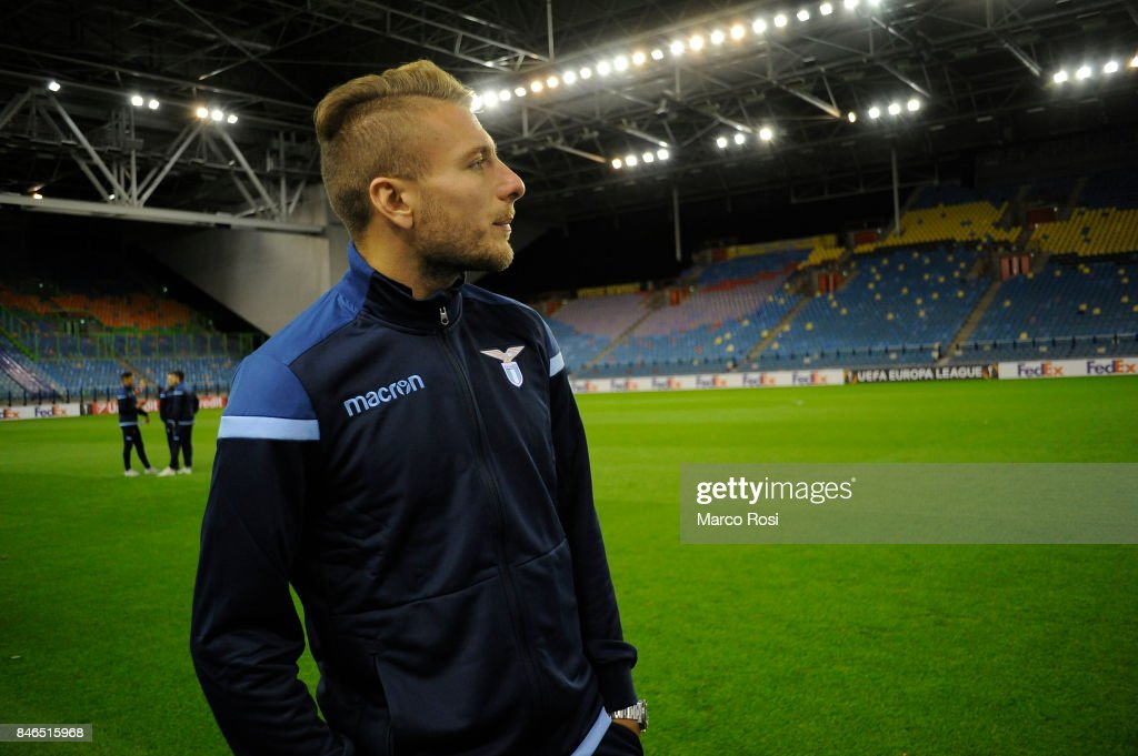 Ciro Immobile during the SS Lazio Pitch Walk Around on September 13, 2017 in Arnhem, Netherlands.