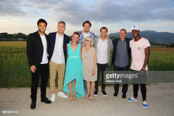Ciro Immobile Federico Marchetti Felipe Anderson Lucas Biglia and Balde Diao keita of SS Lazio during the SS Lazio charity dinner on May 10 2017 in...