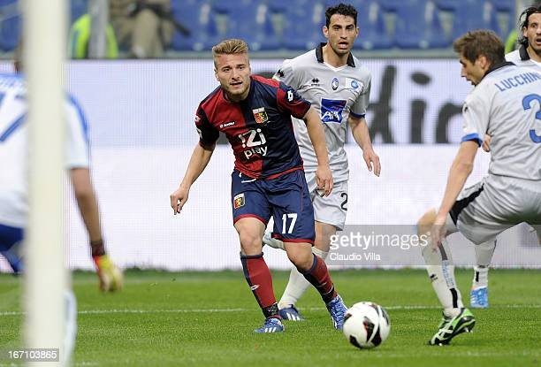 Ciro Immobile of Genoa CFC in action during the Serie A match between Genoa CFC and Atalanta BC at Stadio Luigi Ferraris on April 20 2013 in Genoa...