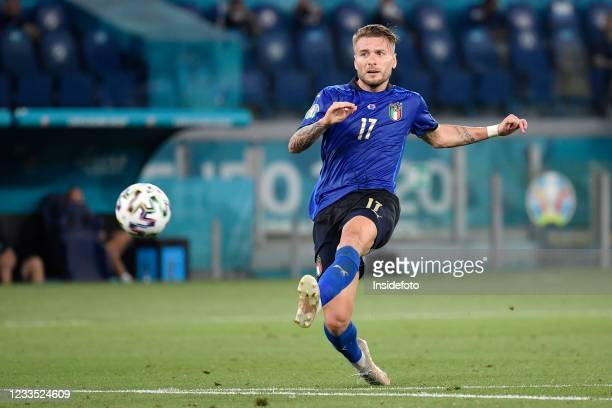 Ciro Immobile of Italy in action during the Uefa Euro 2020 Group A football match between Italy and Switzerland. Italy won 3-0 over Switzerland.