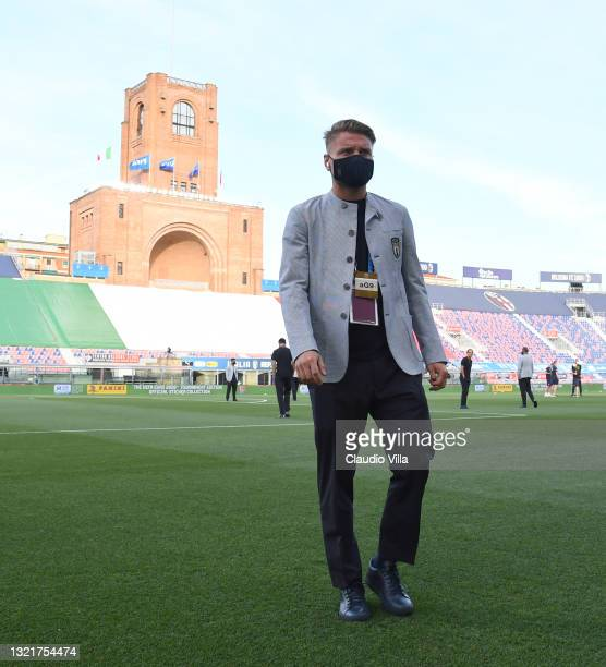 Ciro Immobile of Italy looks on before the international friendly match between Italy and Czech Republic at Renato Dall'Ara Stadium on June 04, 2021...