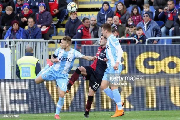 Ciro Immobile of Lazio scored the goal 22 during the serie A match between Cagliari Calcio and SS Lazio at Stadio Sant'Elia on March 11 2018 in...