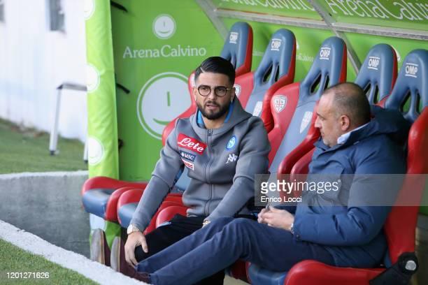 Ciro Immobile of Napoli looks on during the Serie A match between Cagliari Calcio and SSC Napoli at Sardegna Arena on February 16 2020 in Cagliari...