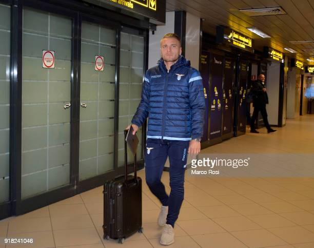 Ciro Immobile of SS Lazio as SS Lazio travel to Bucharest on February 14 2018 in Rome Italy