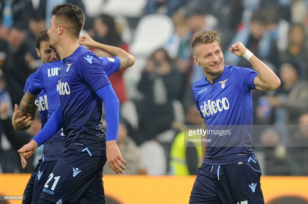 Ciro Immobile of SS Lazio celebrates a fifth goalduring the serie A match between Spal and SS Lazio at Stadio Paolo Mazza on January 6, 2018 in Ferrara, Italy.