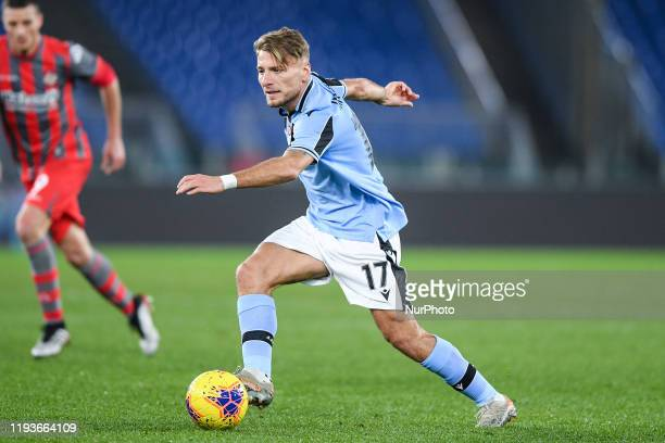 Ciro Immobile of SS Lazio during the Italian Cup match between Lazio and Cremonese at Stadio Olimpico Rome Italy on 14 January 2020
