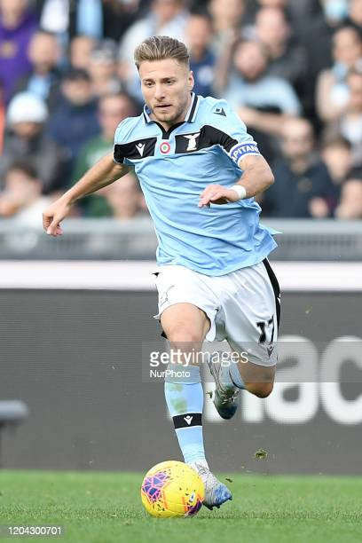 Ciro Immobile of SS Lazio during the Serie A match between Lazio and Bologna at Stadio Olimpico Rome Italy on 29 February 2020