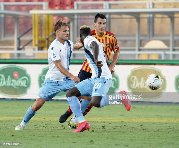 Ciro Immobile of SS Lazio during the Serie A match between US Lecce and SS Lazio on July 7 2020 stadium quotvia del Marequot in Lecce Italy