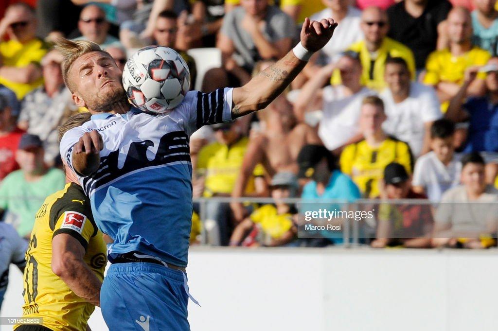 Ciro Immobile of SS Lazio in action during the Borussia ...