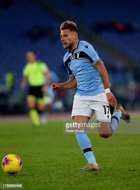 Ciro Immobile of SS Lazio in action during the Coppa Italia match between SS Lazio and US Cremonese at Olimpico Stadium on January 14 2020 in Rome...