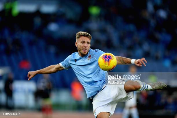 Ciro Immobile of SS Lazio in action during the Serie A match between SS Lazio and Udinese Calcio at Stadio Olimpico on December 1 2019 in Rome Italy